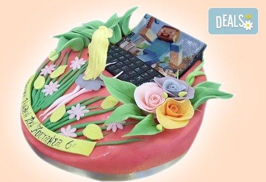 С доставка през април, май и юни! Детска АРТ торта с фигурална ръчно изработена декорация с любими на децата герои от Сладкарница Джорджо Джани - Снимка 90