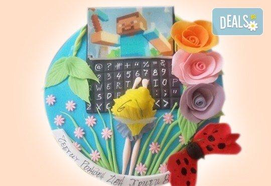 С доставка през април, май и юни! Детска АРТ торта с фигурална ръчно изработена декорация с любими на децата герои от Сладкарница Джорджо Джани - Снимка 91