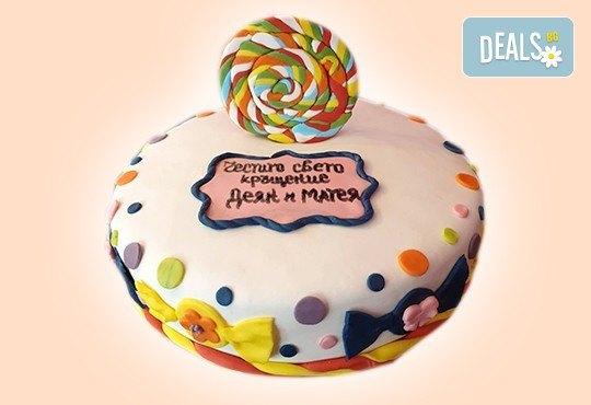 С доставка през април, май и юни! Детска АРТ торта с фигурална ръчно изработена декорация с любими на децата герои от Сладкарница Джорджо Джани - Снимка 22