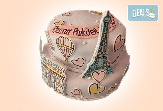 С доставка през април, май и юни! Детска АРТ торта с фигурална ръчно изработена декорация с любими на децата герои от Сладкарница Джорджо Джани - Снимка 65