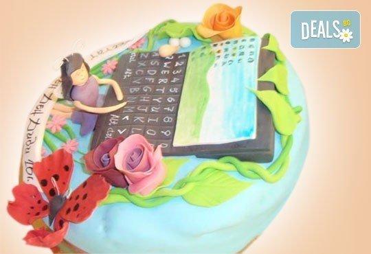 С доставка през април, май и юни! Детска АРТ торта с фигурална ръчно изработена декорация с любими на децата герои от Сладкарница Джорджо Джани - Снимка 92