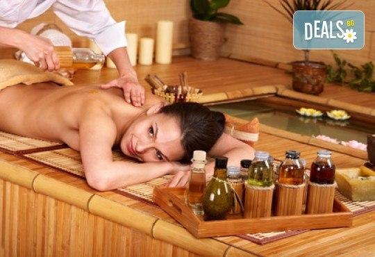 Дълбокотъканен масаж на цяло тяло с топли билкови масла и стимулираща зонотерапия в СПА център Senses Massage & Recreation! - Снимка 1
