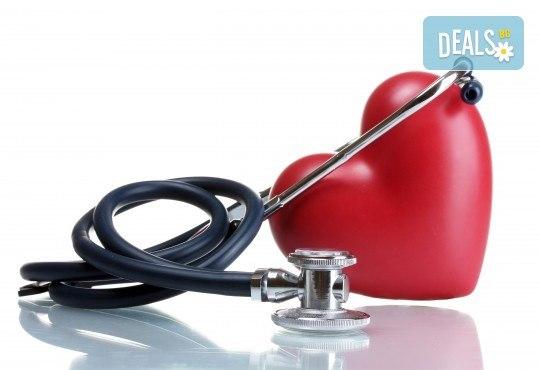 Цялостен преглед от кардиолог, ЕКГ и разчитане на резултатите, насочване при необходимост от ехокардиография и холтер в ДКЦ Alexandra Health! - Снимка 1