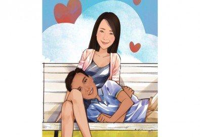 Изработка на карикатура с готов дизайн, с рамка и подарък: картичка от Хартиен свят! - Снимка
