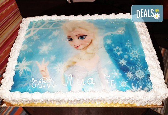 С доставка през април, май и юни! Голяма снимка: торта 25 или 30 парчета, със снимка А3 и пълно покритие на тортата от Сладкарница Джорджо Джани - Снимка 1