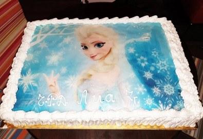 С доставка през април, май и юни! Голяма снимка: торта 25 или 30 парчета, със снимка А3 и пълно покритие на тортата от Сладкарница Джорджо Джани - Снимка