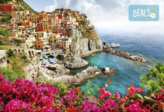 Екскурзия до Чинкуе Терре и Тоскана! 4 нощувки със закуски и вечери в Монтекатини Терме, самолетен билет, екскурзовод! - Снимка 1
