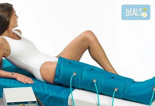 Антицелулитна пресотерапия на цели крака - 1 или 10 процедури, в салон Алма Морел