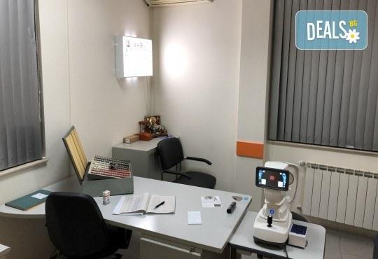 Погрижете се за здравето на Вашите очи! Обстоен офталмологичен преглед - компютърен тест на зрението, изследване на зрителната острота, измерване на вътреочното налягане, изследване на предния очен сегмент и очните дъна в МЦ Хелт! - Снимка 4