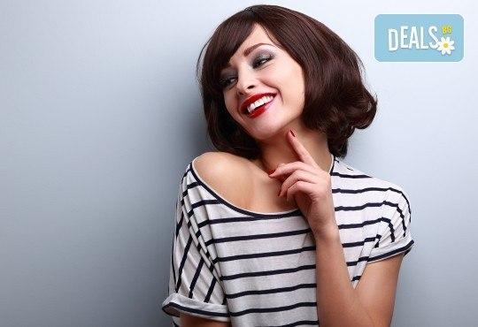 Подстригване и иновативна подхранваща терапия с професионална преса на ISO с инфрачервени лъчи във Фризьорски салон Bisi Hair Studio! - Снимка 1