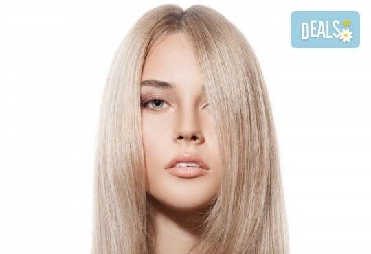 Подстригване и иновативна подхранваща терапия с професионална преса на ISO с инфрачервени лъчи във Фризьорски салон Bisi Hair Studio! - Снимка 3