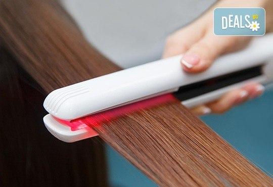 Подстригване и иновативна подхранваща терапия с професионална преса на ISO с инфрачервени лъчи във Фризьорски салон Bisi Hair Studio! - Снимка 2