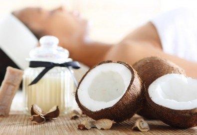 60 минути релакс! Масаж Блажено мързелуване с кокос, нар и арганово масло на цяло тяло в студио GIRO! - Снимка