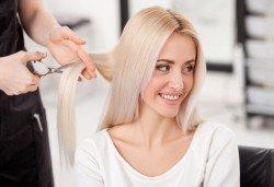 Професионално подстригване, подхранваща маска и оформяне на прическа със сешоар в салон за красота Женско Царство в Центъра или Студентски град! - Снимка