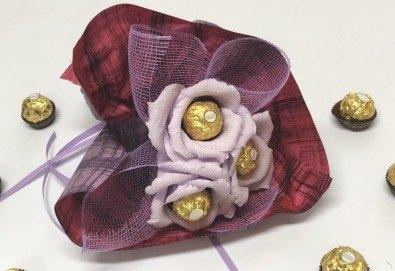 Подарете с любов! Шоколадов букет Valentines Heart от Онлайн магазин за подаръци Банана! - Снимка