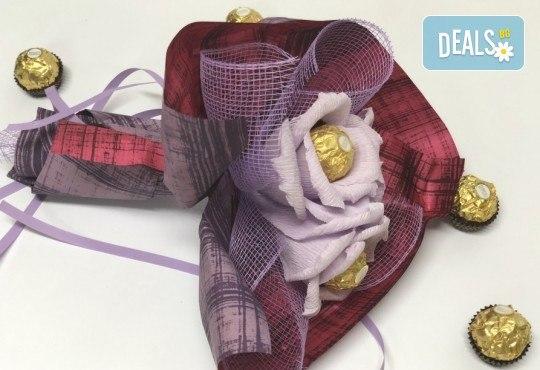Подарете с любов! Шоколадов букет Valentines Heart от Онлайн магазин за подаръци Банана! - Снимка 3