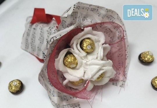 В ритъма на любовта! Шоколадов букет Мелодия от Онлайн магазин за подаръци Банана! - Снимка 1