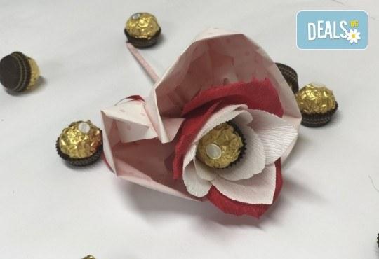 Подарете с любов! Шоколадов букет Сърце и шоколад от Онлайн магазин за подаръци Банана! - Снимка 3