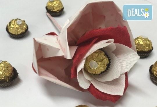 Подарете с любов! Шоколадов букет Сърце и шоколад от Онлайн магазин за подаръци Банана! - Снимка 1