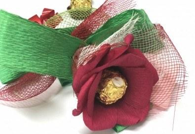 Романтика и стил! Подарете Шоколадов букет Целувка от Онлайн магазин за подаръци Банана! - Снимка