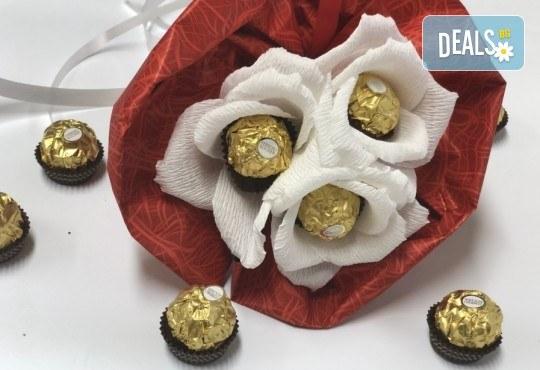 Красив и романтичен шоколадов букет Pure Love от Онлайн магазин за подаръци Банана! - Снимка 1