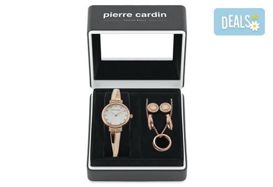 Романтика за празниците! Комплект часовник, колие и два чифта обеци на Pierre Cardin + безплатна доставка! - Снимка 2