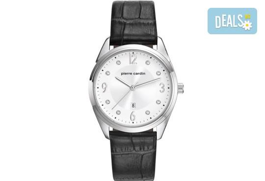 Елегантен часовник на Pierre Cardin с кристални индекси + безплатна доставка! - Снимка 1