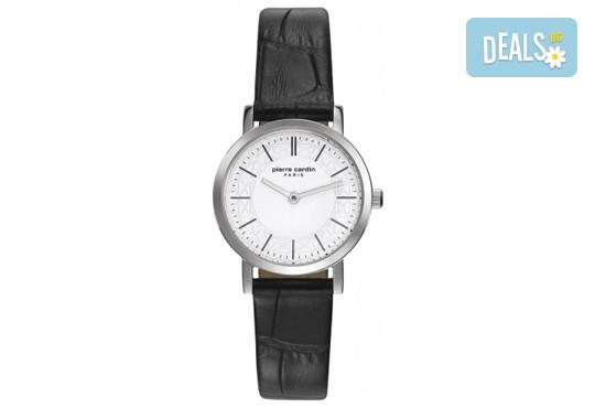 Стил и качество! Черен часовник на Pierre Cardin с красиви мотиви на циферблата + безплатна доставка! - Снимка 1