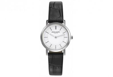 Стил и качество! Черен часовник на Pierre Cardin с красиви мотиви на циферблата + безплатна доставка! - Снимка