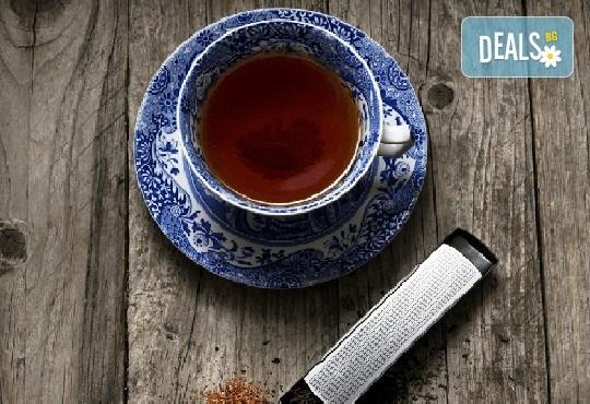 За любителите на чаените партита! Цедка-лъжичка за насипен чай от Drosselmeyer! - Снимка 1