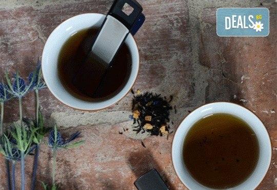 За любителите на чаените партита! Цедка-лъжичка за насипен чай от Drosselmeyer! - Снимка 2