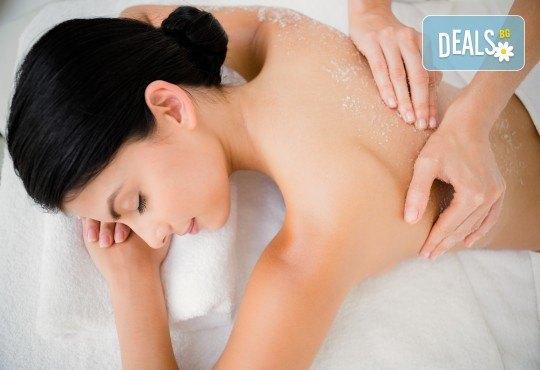 Детоксикираща терапия! 90-минутен масаж и пилинг на цяло тяло със соли от Mъртво море в студио за красота Jessica, Варна! - Снимка 2