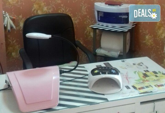 Дълготраен маникюр с гел лак Opium, Bluesky, Gel polish, 2 декорации и масаж с дълбоко хидратиращ лосион в Център за естетична и холистична медицина Симона! - Снимка 5