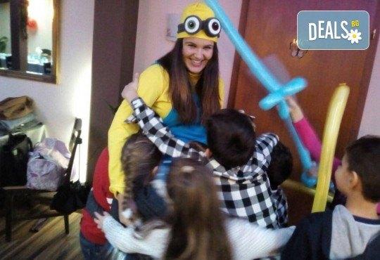 Детско парти с продължителност 2 часа с актьор-аниматор в темата на Елза, Луна, Спайдармен, Миньон или друг герой на избрано от клиента място от Sunny Kids! - Снимка 5