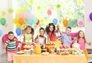 Детско парти с продължителност 2 часа с актьор-аниматор в темата на Елза, Луна, Спайдармен, Миньон или друг герой на избрано от клиента място от Sunny Kids! - Снимка