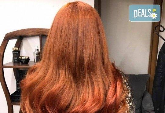Подстригване, кератинова терапия за коса в три стъпки и оформяне със сешоар в луксозния салон Bona Dea! - Снимка 6