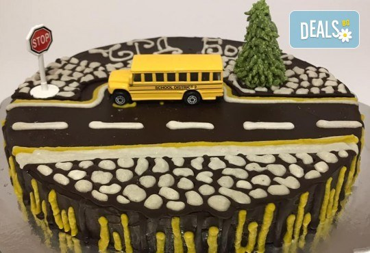 Красива и полезна тематична торта за Вашия малчуган! Сурова торта, без глутен и животински продукти, с вкус по избор, рисунка, весели фигурални декорации и надпис от Сладкишница Хенди Кенди! - Снимка 11