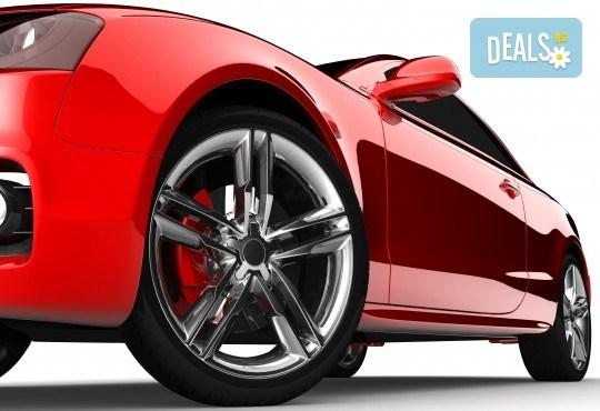 Смяна на 4 броя гуми с включено сваляне, качване, монтаж, демонтаж и баланс в автосервиз Катана! - Снимка 2