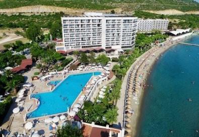 На море през май или октомври в Кушадасъ, Турция! 5 или 7 нощувки на база All Inclusive в хотел Tusan Beach Resort 5*, безплатно за дете до 12 г., възможност за транспорт - Снимка