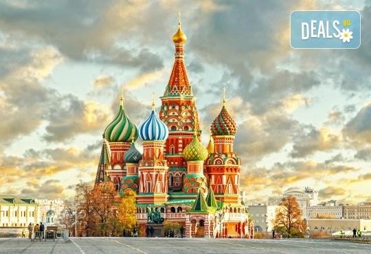 Величието на Русия! Екскурзия до Санкт Петербург и Москва с Лъки Холидей! Самолетни билети, трансфери, 6 нощувки, 5 закуски и 7 вечери в хотели 3 и 4*, туритическа програма - Снимка 1