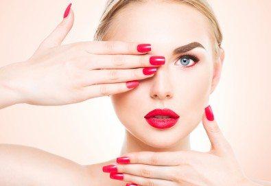 Красиви нокти! Изграждане на ноктопластика с гел SNB и маникюр с обикновен или гел лак в салон за красота Madonna! - Снимка
