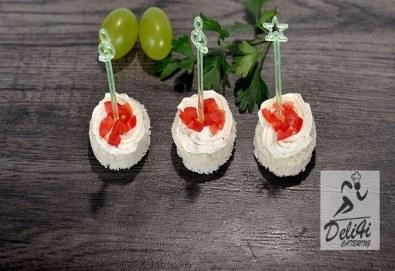 Парти сет с 56 или 86 броя вкусни и ароматни коктейлни хапки микс за всеки повод и 50% отстъпка за вкусотиите на кулинарна работилница Деличи! - Снимка