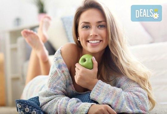 Почистване на зъбен камък и плака и полиране на зъбите с Air Flow + обстоен преглед и план за лечение от Дентален кабинет Казбек! - Снимка 1