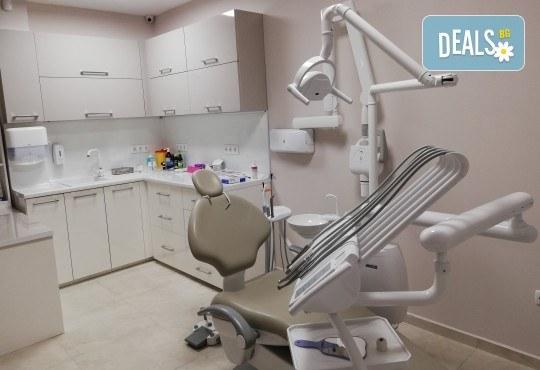 Професионално домашно избелване на зъби с индивидуални шини, профилактичен преглед, ултразвуково почистване на плака и зъбен камък и полиране на зъбите с Аir Flow в дентален кабинет Казбек! - Снимка 5