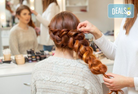 Арганова терапия, сешоар, плитка и подстригване на връхчета, Beauty center D&M