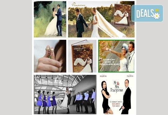 Сватбено фото- и HD видеозаснемане + фотокнига и подарък: разпечатана снимка в рамка по избор на клиента от Photosesia.com! - Снимка 5