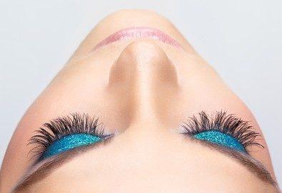 Поставяне на мигли по метода косъм по косъм - копринени или от норка, в салон за красота Madonna! - Снимка