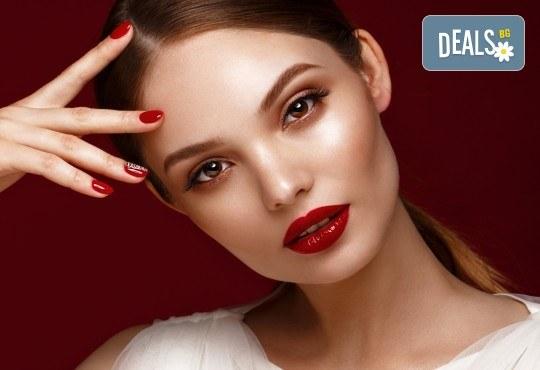 Професионален грим с козметика Lollipop - дневен, вечерен или опушен, и прическа по избор в салон за красота Madonna в Центъра! - Снимка 3