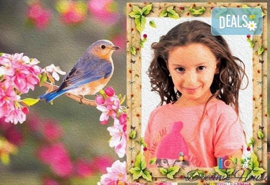 Индивидуално изработена празнична картичка за всеки повод, със снимка, надпис и рамка по желание от Студио Dreams House! - Снимка 1