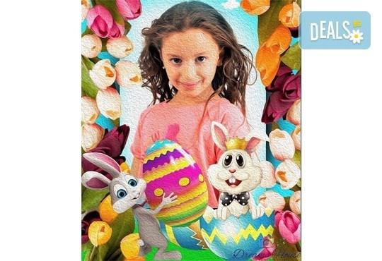 Индивидуално изработена празнична картичка за всеки повод, със снимка, надпис и рамка по желание от Студио Dreams House! - Снимка 3
